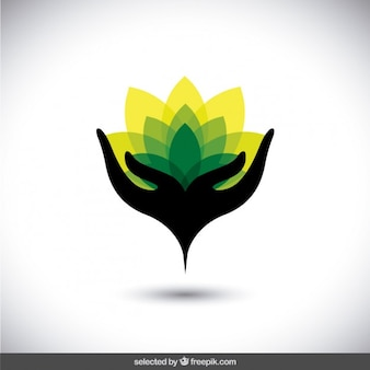 Abstract protect the environment logo