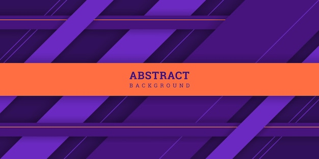 Abstract purple 3d background in paper cut style