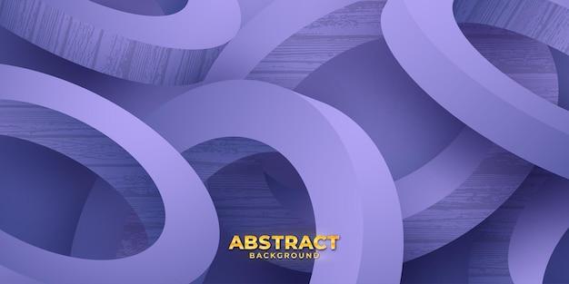 Абстрактный фиолетовый 3d круг векторный фон