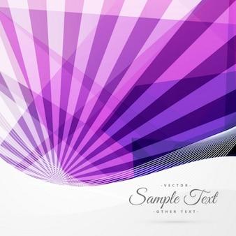 線や幾何学的な形で抽象的なファンキーな紫色の背景