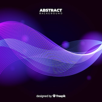 Abstract purple background with wavy shapes