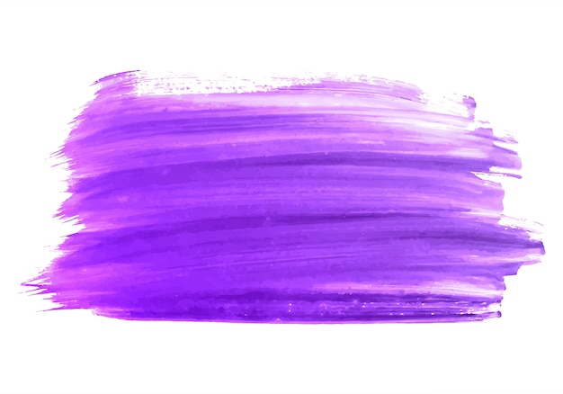 Abstract purple brush stroke color design