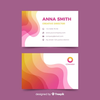 Abstract purple business card template