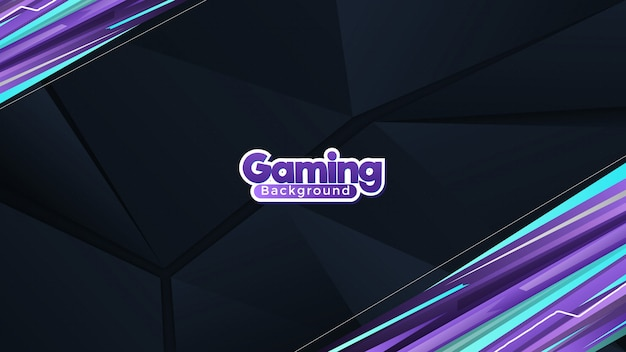 Abstract purple and cyan gaming  background