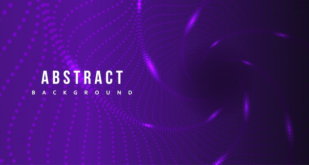 Abstract purple dot with glowing background design