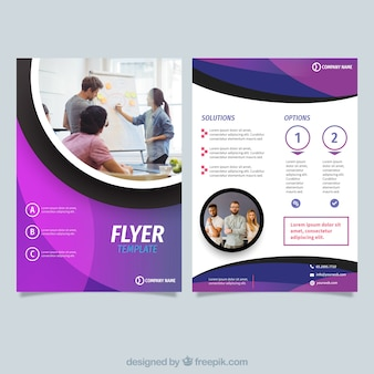 Abstract purple flyer template