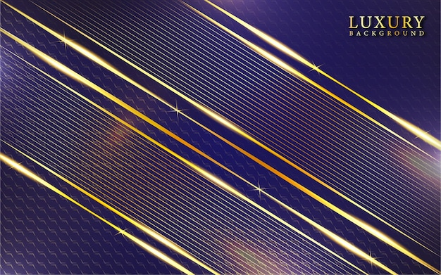 Abstract purple and gold luxury background