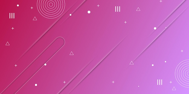 Абстрактный фиолетовый градиент текстуры с элементами мемфиса векторные иллюстрации