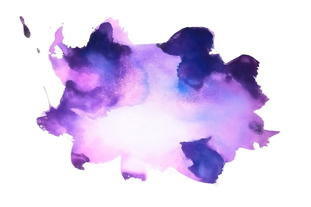 Abstract purple hand painted watercolor texture