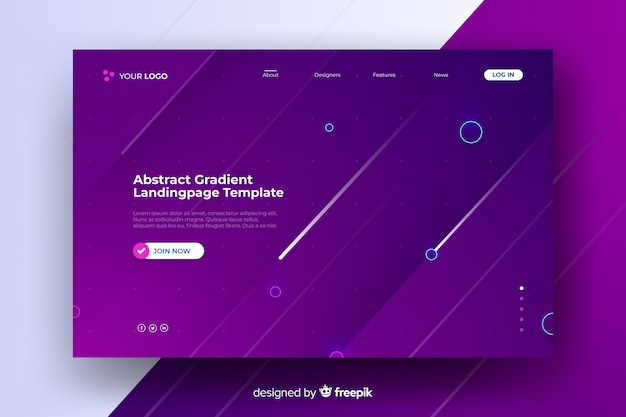 Abstract purple landing page