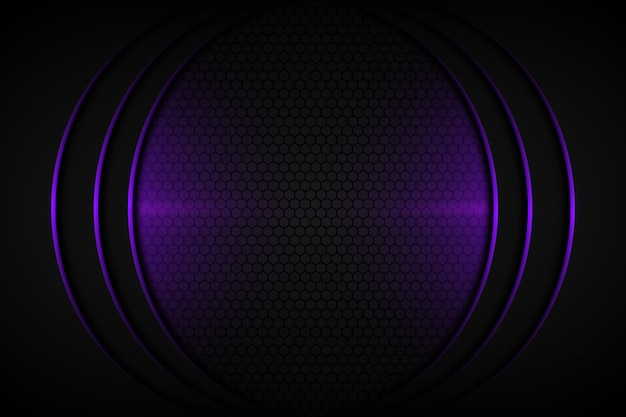 Abstract purple light curve line on dark grey blank space design modern futuristic background
