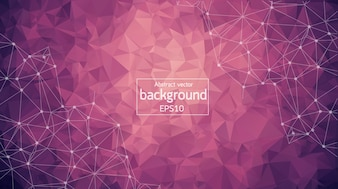 Abstract Purple Light Geometric Polygonal background