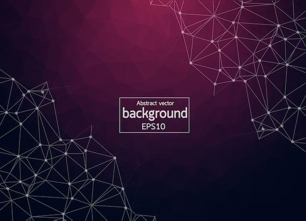 Abstract  purple light geometric polygonal background