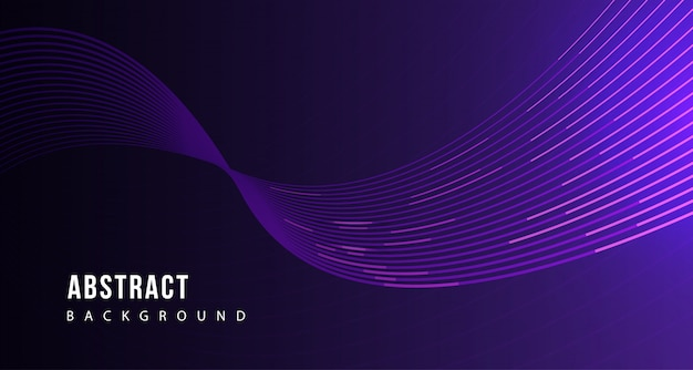 Abstract purple line tech background