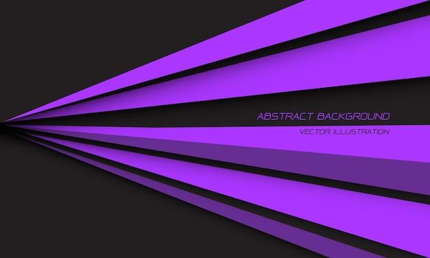 灰色のモダンな未来的な背景に抽象的な紫色の線の三角形のスピードシャドウ