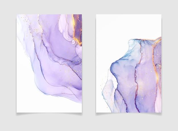 추상 보라색 액체 수채화 배경