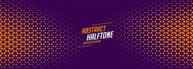 Abstract purple and orange halftone banner design