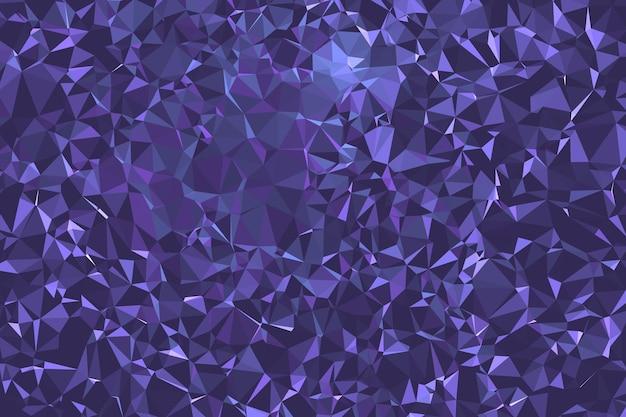 抽象的な紫色の多角形の空間の背景。幾何学的な多角形の背景分子とコミュニケーション。科学、化学、生物学、医学、技術の概念。