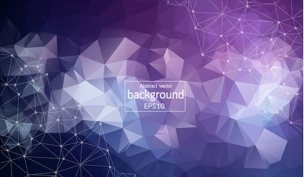 Abstract purple polygonal space background