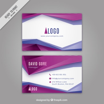 Abstract purple shapes corporative card