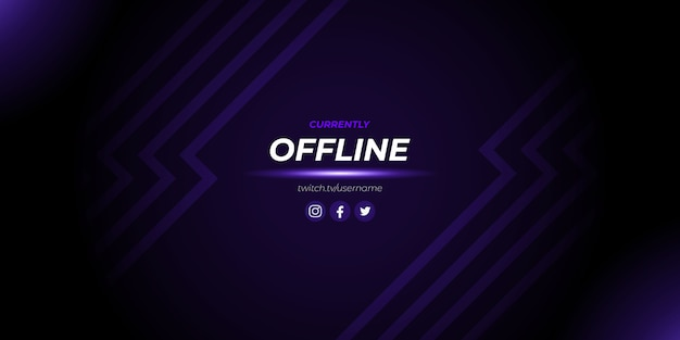 Abstract purple twitch offline gaming background