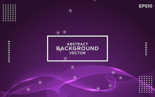 Abstract purple wave modern