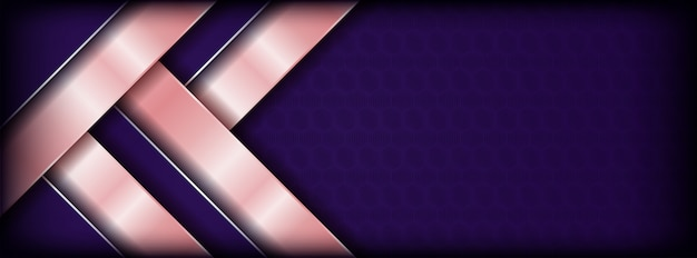 Abstract purple with pink overlap banner background