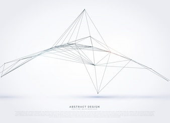 Abstract pyramide wireframe background