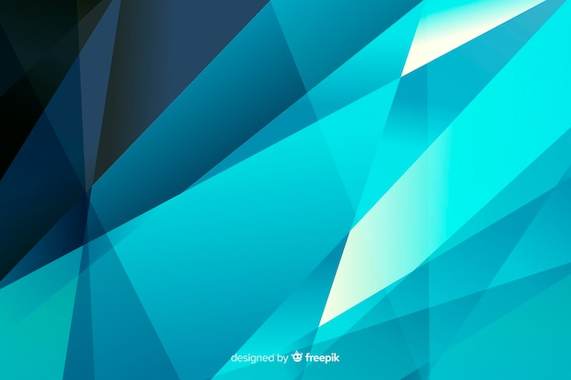 Abstract pyramids on blue shades background