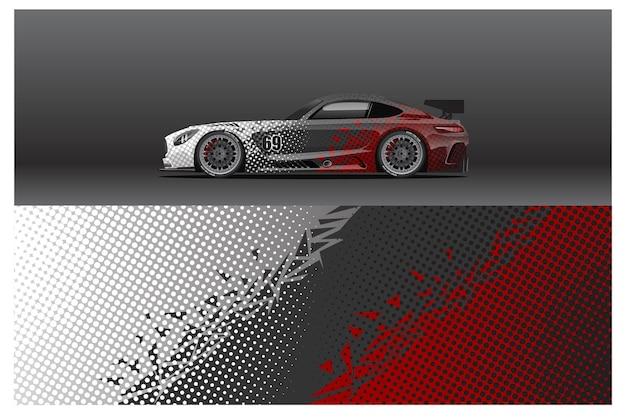 매일 사용하는 경주용 상징 또는 스티커를 위한 추상 경주용 자동차 랩 스티커 디자인 및 스포츠 배경