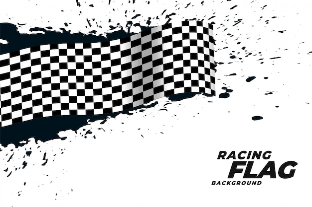 Abstract racing flag grunge background