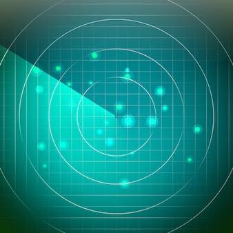Abstract radar vector. screen over square grid lines. hud user interface background.
