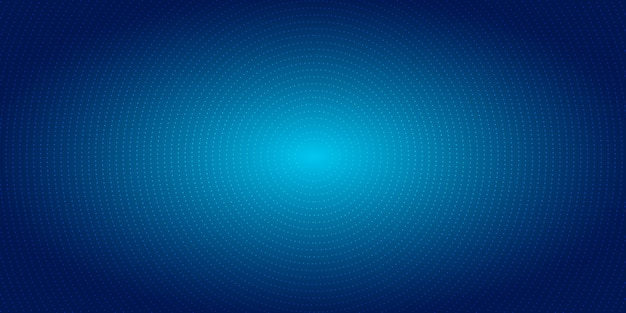 Abstract radial dots pattern halftone blue background