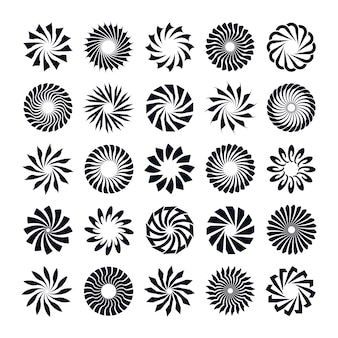 Abstract radial shape design element set
