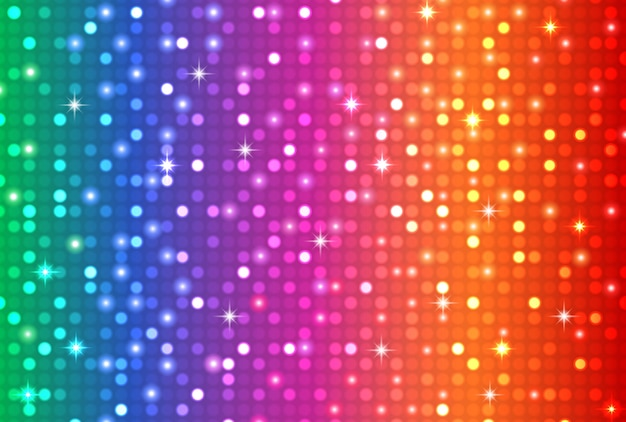 Abstract rainbow color disco light background