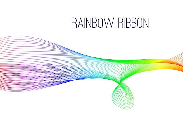 Abstract rainbow ribbon background.