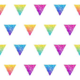 Abstract rainbow seamless pattern background. modern futuristic illustration for birthday card, party invitation, wallpaper, holiday wrapping paper, fabric, bag print, t shirt,  workshop advertising.