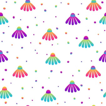 Abstract rainbow seamless pattern background. modern futuristic illustration for design card, party invitation, wallpaper, holiday wrapping paper, fabric, bag print, t shirt,  workshop advertising etc