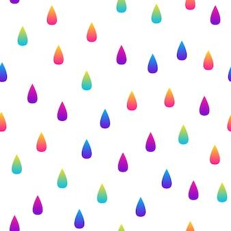 抽象的な虹のシームレスなパターンの背景。デザインカード、パーティの招待状、壁紙、ホリデーラッピングペーパー、ファブリック、バッグプリント、tシャツ、ワークショップ広告などのモダンで未来的なイラスト