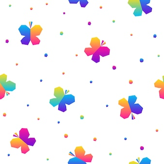 Abstract rainbow seamless pattern background. modern swatch for birthday card, kids party invitation, shop sale wallpaper, holiday wrapping paper, fabric, bag print, t shirt,  workshop advertising