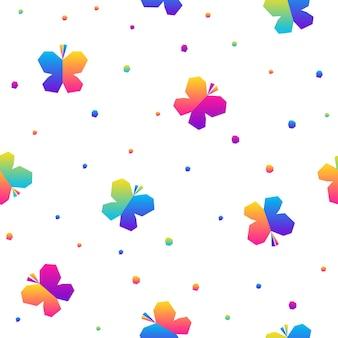 추상 무지개 원활한 패턴 배경입니다. 생일 카드, 어린이 파티 초대장, 상점 판매 벽지, 휴일 포장지, 직물, 가방 인쇄, 티셔츠, 워크샵 광고를 위한 현대적인 견본