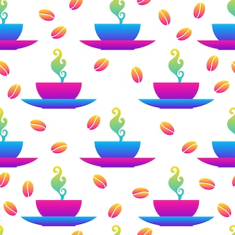 抽象的な虹のシームレスなパターンの背景。バースデーカード、キッズパーティーの招待状、ショップセールの壁紙、ホリデーラッピングペーパー、ファブリック、バッグプリント、tシャツ、ワークショップ広告のモダンな見本