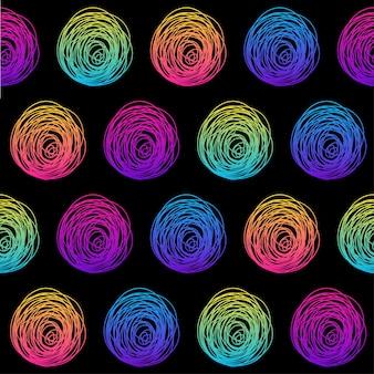 抽象的な虹のシームレスなパターン。誕生日カード、キッズパーティーの招待状、壁紙、休日の包装紙、ショップセールのポスター、バッグプリント、tシャツ、ワークショップ広告のモダンな見本の背景