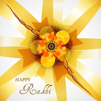 Abstract raksha bandhan background in yellow color