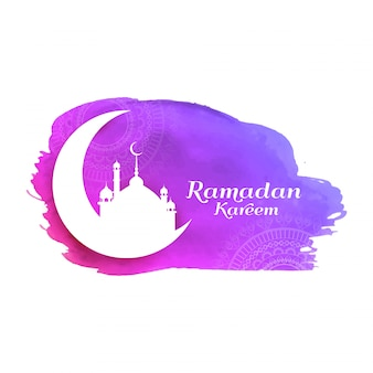 Abstract Ramadan Kareem decorative watercolor background