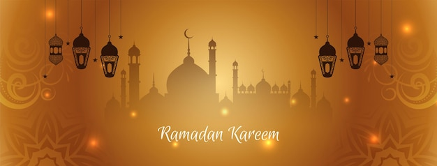 Abstract ramadan kareem islamic cultural banner design