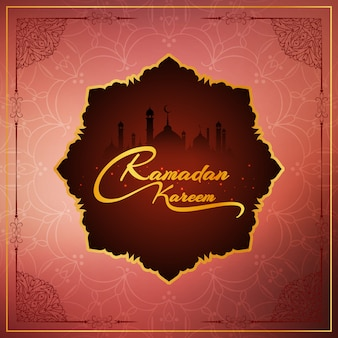 Abstract ramadan kareem religious background