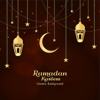 Abstract ramadan kareem religious greeting background