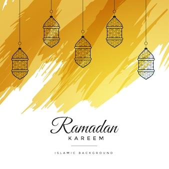 Abstract ramadan kareem watercolor