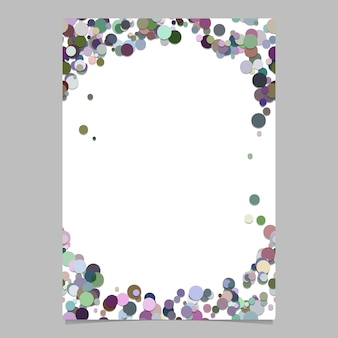 Abstract random dot page template